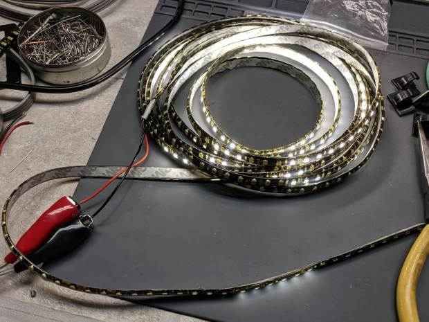 Failed warm-white LED strip
