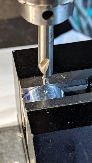 Bath Vent Fan - small lock ring - c-drill