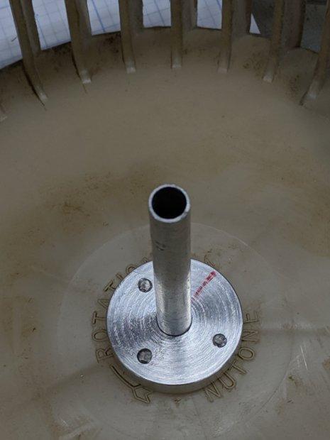 Bath Vent Fan - mount ring - test fit - bottom