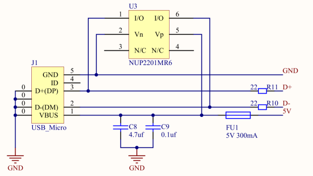 CAMTOOL CNC-V3.3 schematic - USB Power Entry