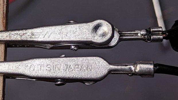 Crimped Alligator Clips - soldered - Made In Japan