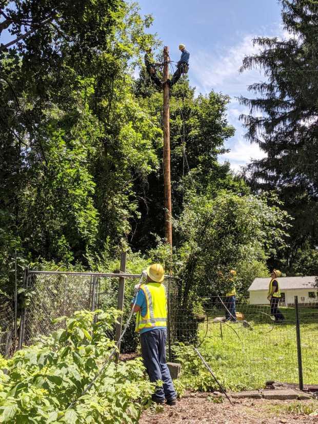 New Utility Pole - wiring