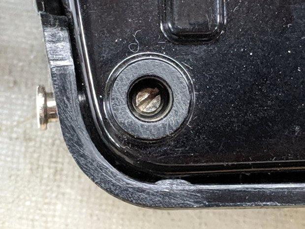 Kenmore 158 - Pedal pivot screw - in place