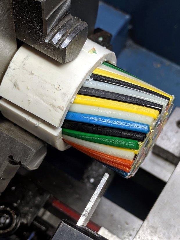 Filament Millefiori - 160C pipe - cutoff tool