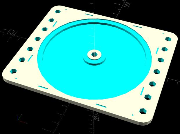 Platter Fixtures - CD on 3018