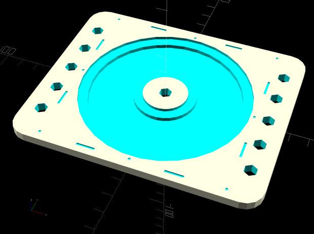 Platter Fixtures - hard drive platter on 3018