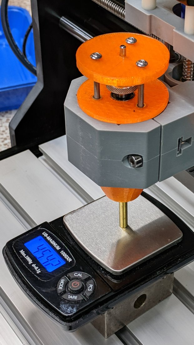 CNC 3018-Pro - Diamond bit - force measurement