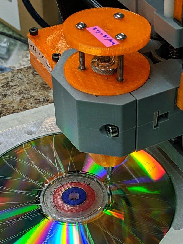 CNC 3018-Pro - CD fixture
