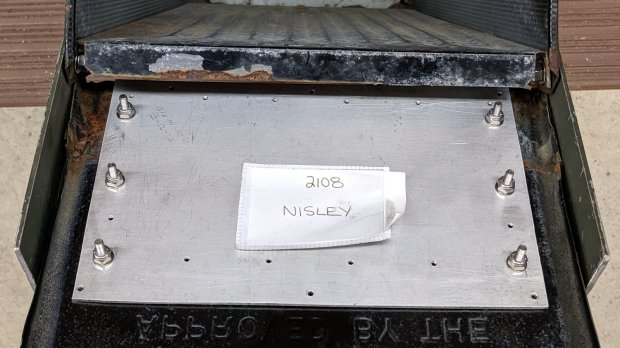 Mailbox door rebuild - interior