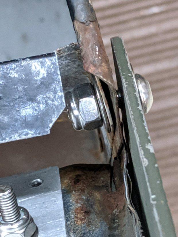 Mailbox door rebuild - hinge detail