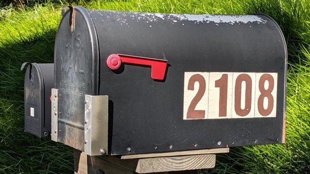 Mailbox door rebuild - installed