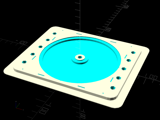 Platter Fixtures - CD on 3018 - tape flange