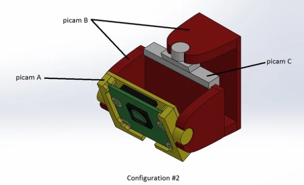 Pi Camera - M2 Mount - Config 2 diagram