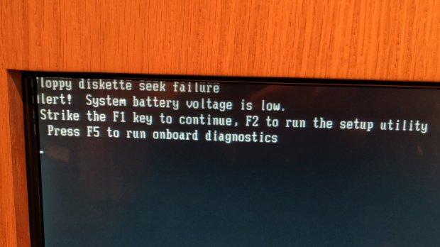 Kiosk - Floppy Disk Seek Failure