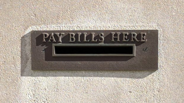 Pay Bills Here - envelope slot