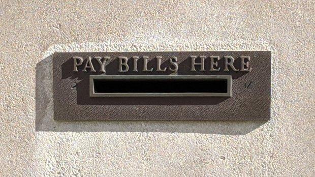 Pay Bills Here - envelope slot