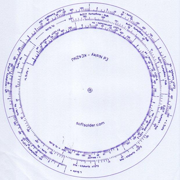 Tektronix Circuit Computer - Bottom Deck - scale check plot