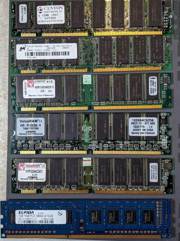 DRAM Assortment - PC133