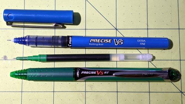 Pilot V5 and V5RT pens