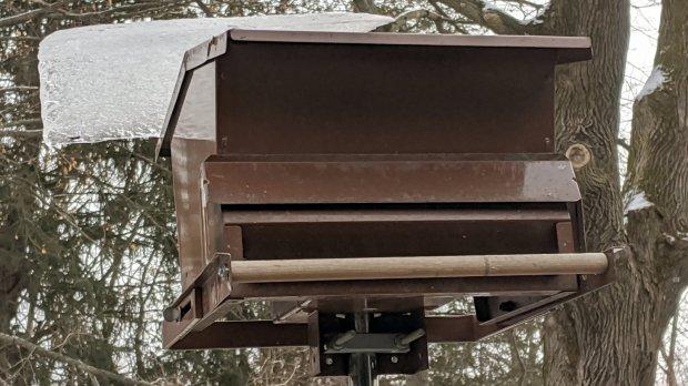 2019-12-21 - Ice on bird feeder - Day 2