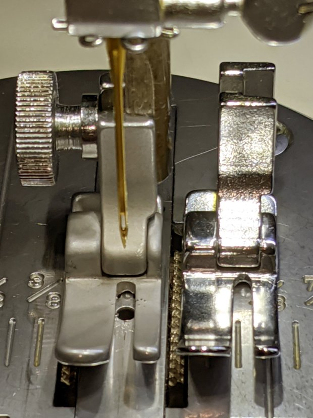 Kenmore 158 Presser Foot - sandblasted vs original