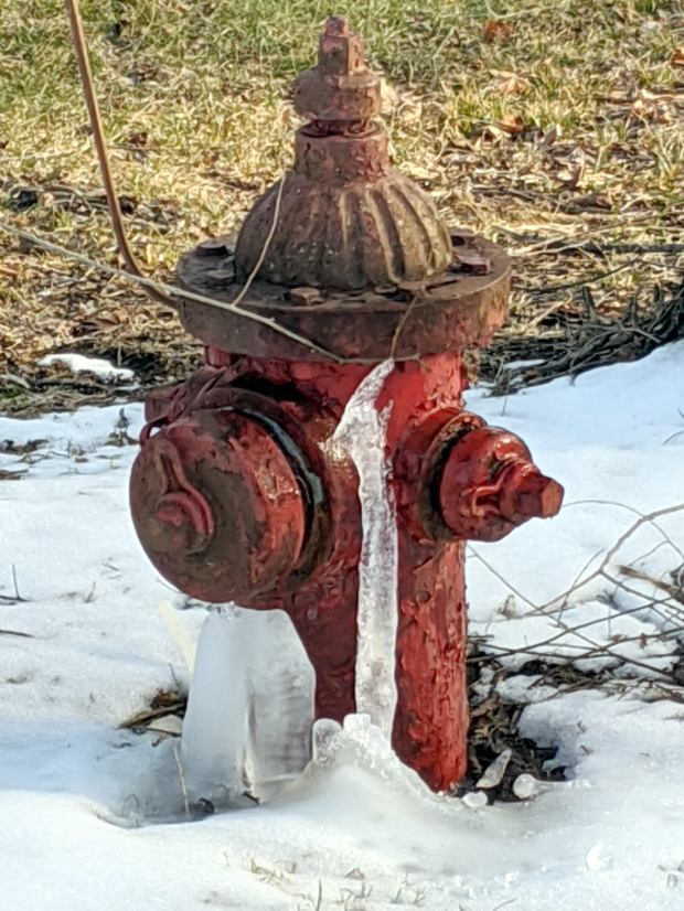 Frozen hydrant - Sheldon at Rt 376