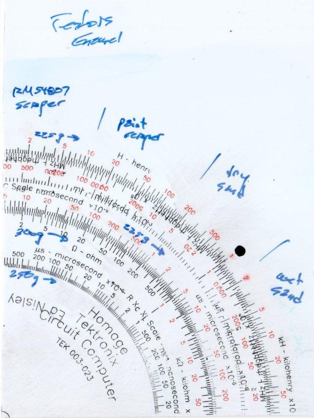 Engraving Testpiece D - Testors Enamel - scrape sand - overview