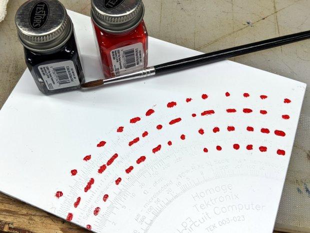 Engraving Testpiece D - Testors Enamel - red