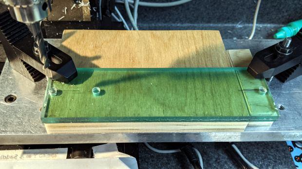 Tek CC - Cursor milling fixture - hole drilling