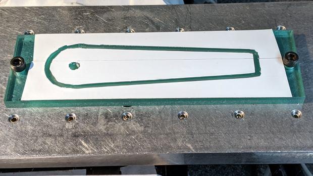 Tek CC - Cursor milling fixture - 2-side tape applied
