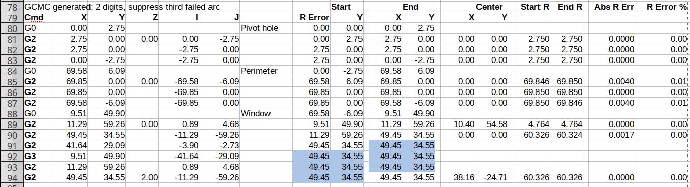 Spreadsheet - GCMC 2 digit - suppress third failed arc