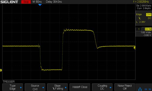 Bipolar pulse - 47 ohm 2.5 V