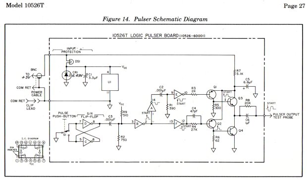 HP 10526T Logic Pulser - schematic