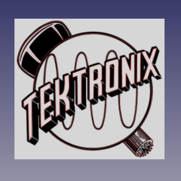 Tek Logo - FreeCAD tracing - overlay