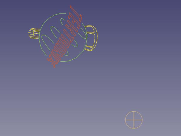 Tek Logo - FreeCAD tracing - rotated