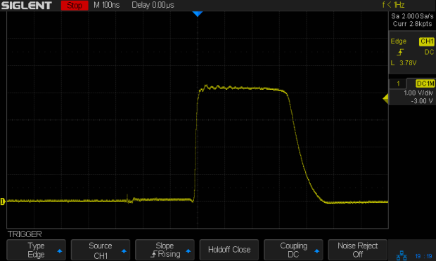 Test C pulse - 47 ohm