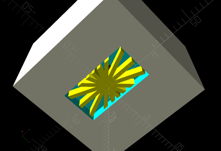 Glass Tile Frame - pyramid cell - bottom
