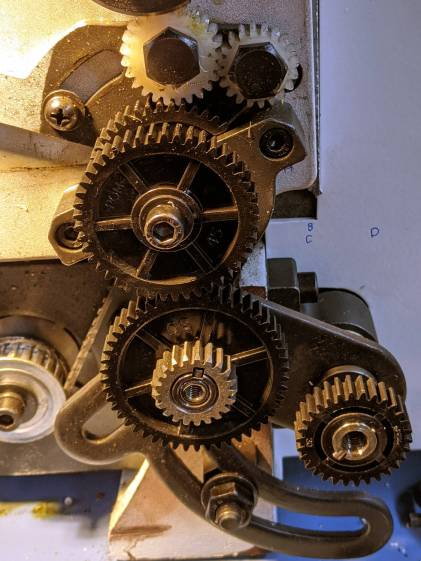 Mini-Lathe change gears - 1 mm - 21 vs 30 tooth - CD