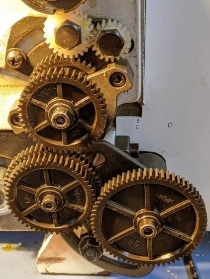 Mini-Lathe change gears - 1 mm - 45 55 50 65