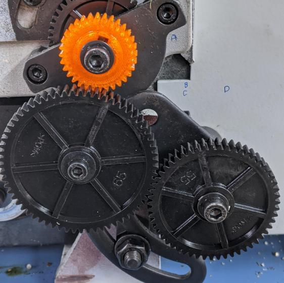 Mini-Lathe change gears - 1 mm - bad 32 60 65 55