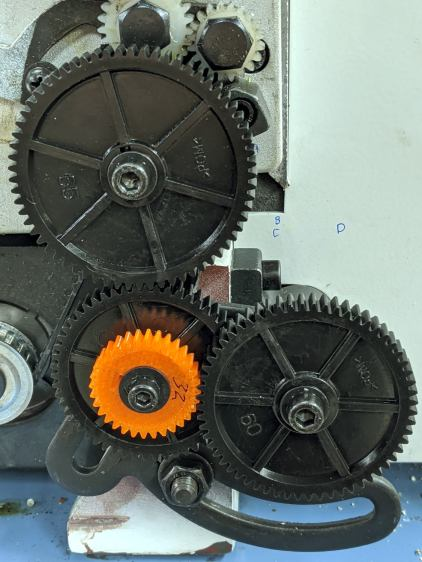 Mini-Lathe change gears - 1 mm - 65 55 32 60