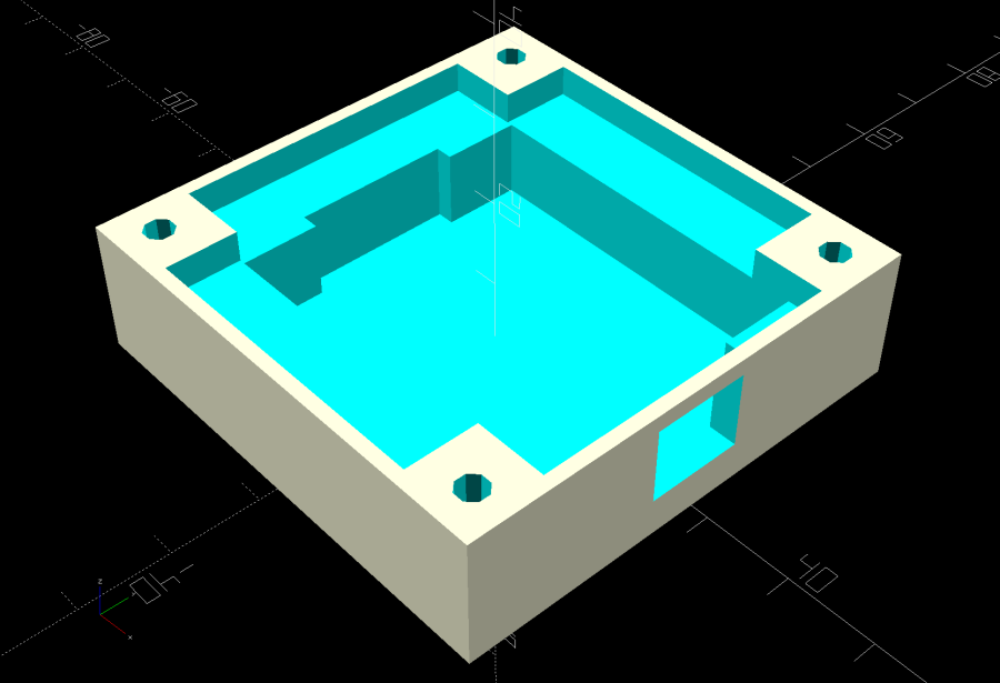 Glass Tile Frame - base - openscad