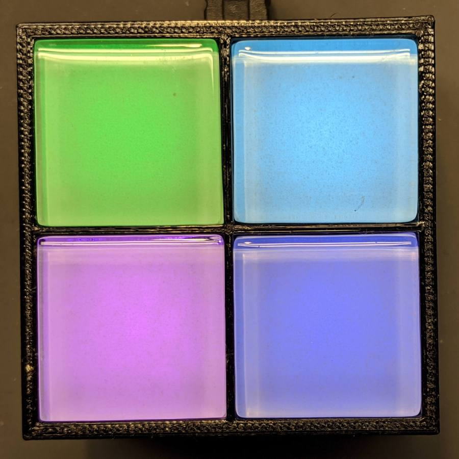 Glass Tile - 2x2 array - operating
