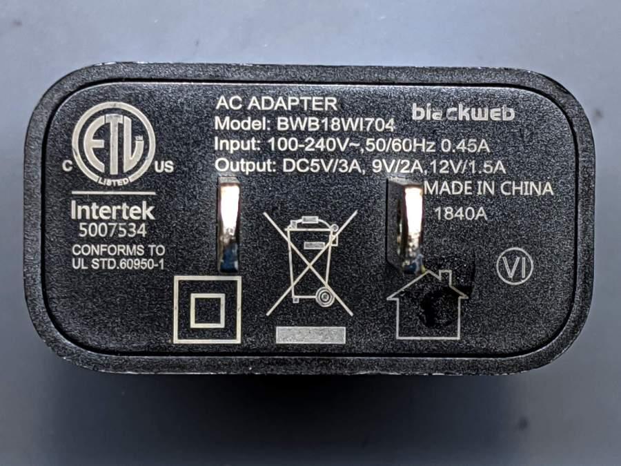 blackweb charger - dataplate