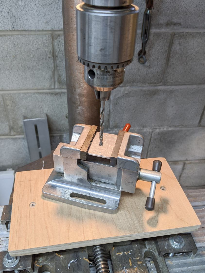 Drill press - new vise table