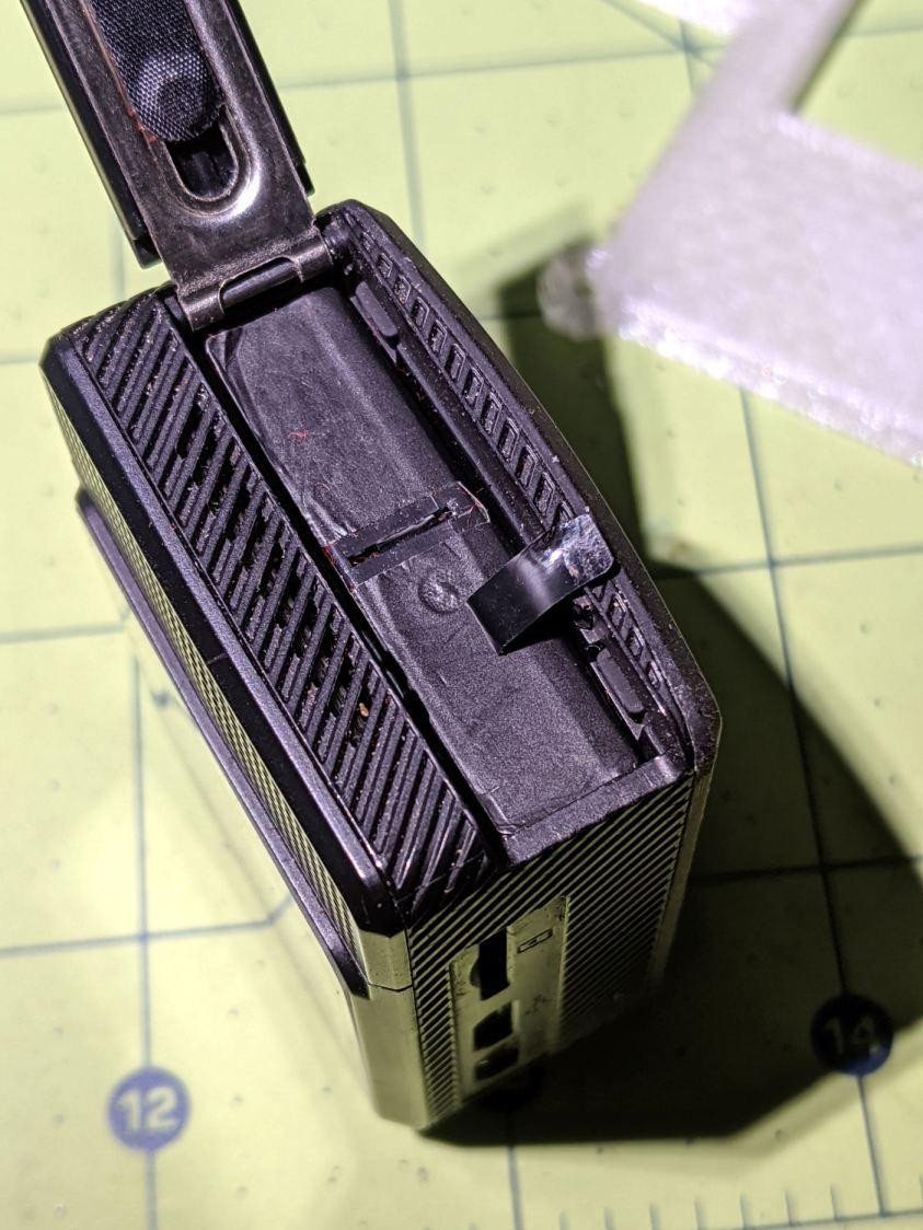 SJCAM M20 - stuck battery