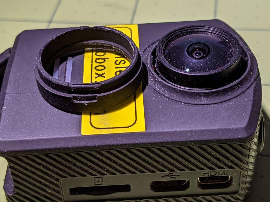 SJCAM M20 - lens ring removed