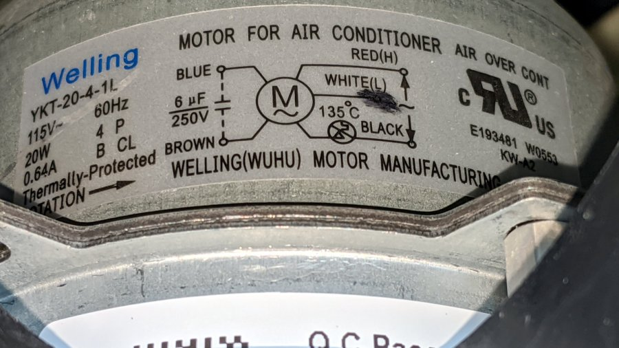 Scrap Dehumidifier Blower Motor - wiring diagram