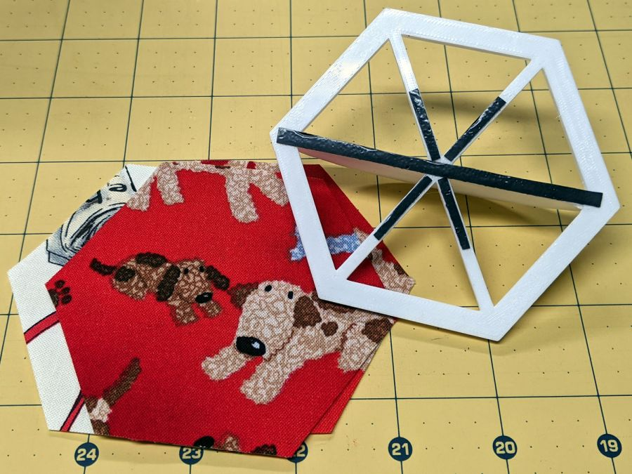Hex Quilting Template - grip strips