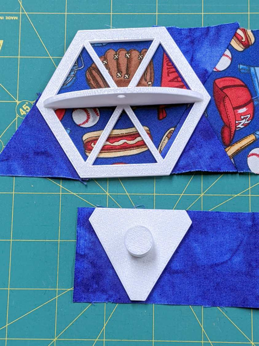 Hex Quilting Templates - on strips